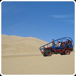 Visiting the dunes of Huacachina.