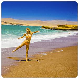 Red beach of Paracas