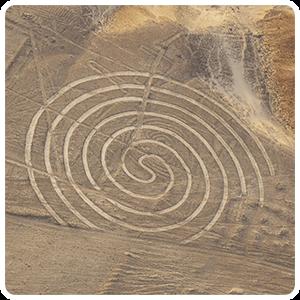 Nazca Lines Spiral Figure