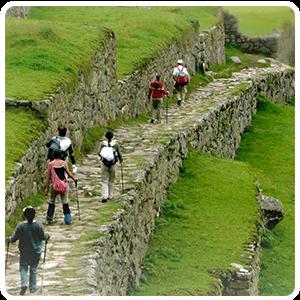 Arriving at the Citadel of Machu Picchu
