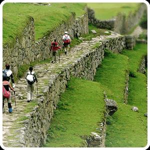 Arriving in Machu Picchu