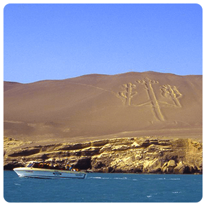 Candelabrum Geoglyph in Paracas Peru