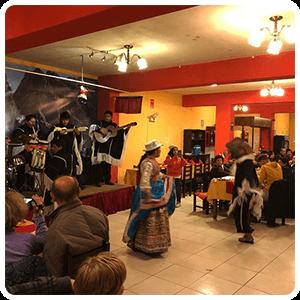 Dinner Show in the village of Chivay - Peru