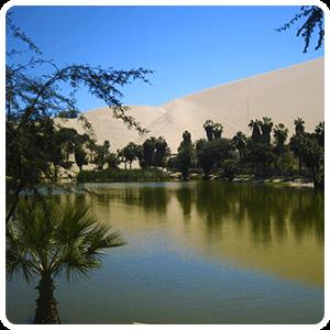 Huacachina lagoon in Ica