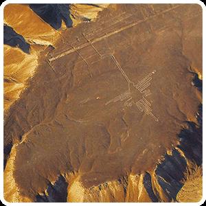 Hummingbird Geoglyph at the Pampas of Nazca
