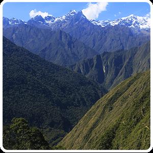 Landscape on Inca Trail