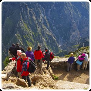 Lookout Point of Cruz del Condor in the Colca Valley