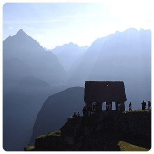 Lookout point of Machu picchu