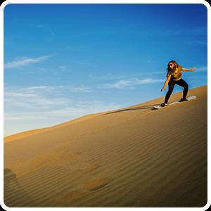 Sandboarding at the Huacachina dunes