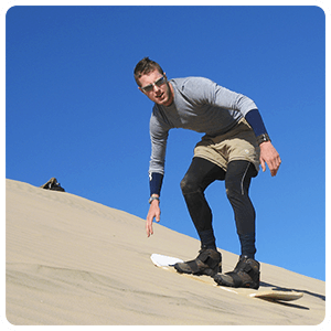 Sandboarding excursion in Nazca