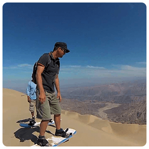 Sandbording tour on Cerro Blanco