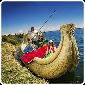 Totota Reed boat in Uros Islands