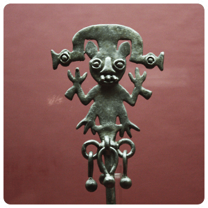 Ancient Silver figurine from the Moche Culture