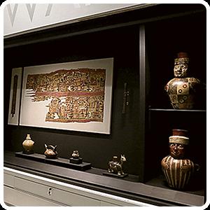Ancient relis at the Pachacamac Museum