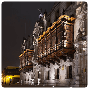 Archbishops Palace By Night in Llima