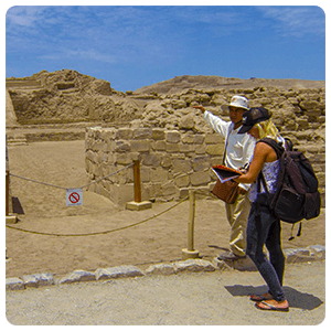 Guided tour at the Pachacamac Ruins