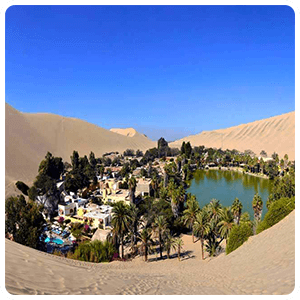 Huacachina Oasis from above