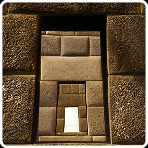 Inca Stone walls inside Qoricancha Temple