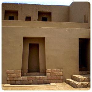 Inca building at the Pachacamac Ruins