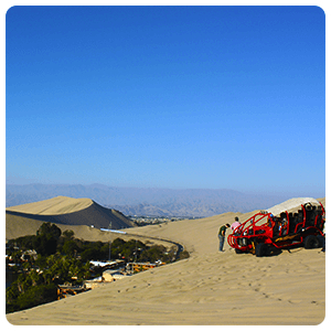 Lookout point of Huacachina Oasis