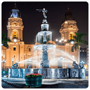 Main Square of Lima by night