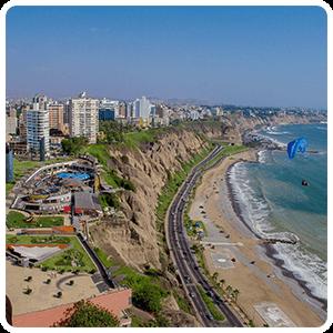 Miraflores District in Lima.