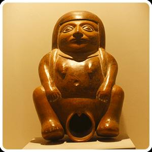 Moche Woman Ancient Pottery