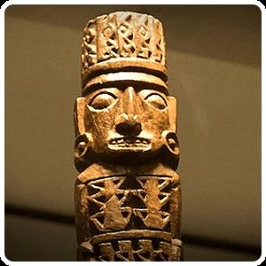 Pachacamac God at the museum