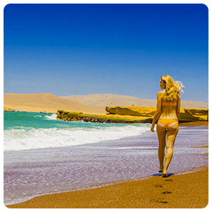 Red Beach in Paracas Bay