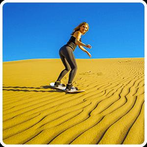 Sandboardin - Huacachina Desert