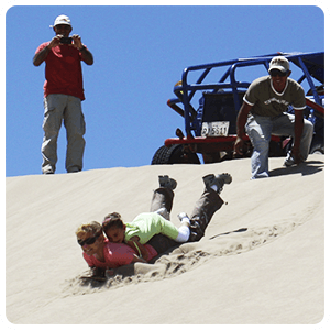 Sandboarding with family
