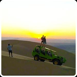 Sunset in Huacachina Desert