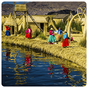 Visit to the Uros Floating Islands